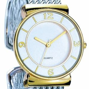 Timeless Two-tone Cuff Watch. Brand NEW!